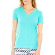 Insomniax® Short-Sleeve Knit Sleep Tee