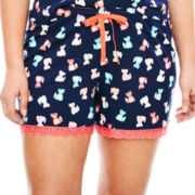Insomniax® Print Knit Sleep Shorts - Plus