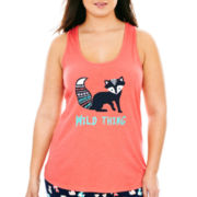 Insomniax® Screen Print Sleep Tank Top - Plus
