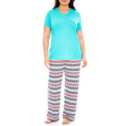 Insomniax® Short-Sleeve Knit Sleep Tee or Sleep Pants - Plus