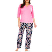 Insomniax® 3/4-Sleeve Henley Sleep Tee or Sleep Pants - Plus