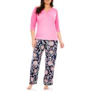 Insomniax® 3/4-Sleeve Henley Sleep Tee or Sleep Pants - Plus