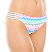 Arizona Zigzag Print Hipster Swim Bottoms - Juniors