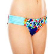 Arizona Floral Print Side-Sash Hipster Swim Bottoms - Juniors