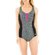 Speedo® Space-Dyed Racerback 1-Piece Swimsuit