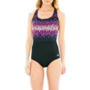 Speedo® Diamond Ombré Ultraback 1-Piece Swimsuit