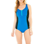 Speedo® Solid Mesh Racerback 1-Piece Swimsuit