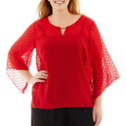 Alyx® 3/4-Sleeve Textured Top - Plus