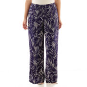 Alyx® Palm Print Palazzo Soft Pants - Plus