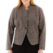 Liz Claiborne® 1-Button Tweed Jacket - Plus