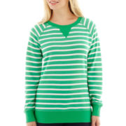 Made For Life™ Long-Sleeve Striped Sweatshirt - Petite