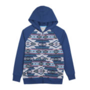 Hybrid French Terry Zip-Front Hoodie – Boys