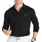 IZOD® Golf Long-Sleeve Textured Stripe Polo