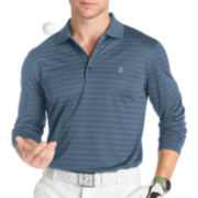 IZOD® Long-Sleeve Textured Stripe Polo
