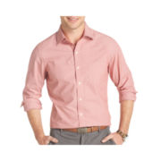 IZOD® Long-Sleeve Slim-Striped Woven Shirt