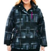 ZeroXposur® Belle Hooded Snowboard Jacket with Headband - Plus