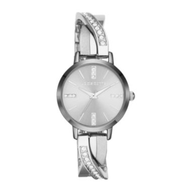 jcpenney.com | Liz Claiborne® Silver Bangle Twist Bracelet Watch