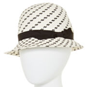 Scala™ Black and White Cloche Hat