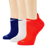 Nike® Womens 3-pk. No-Show Socks