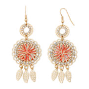 Decree® Feather Drop Earrings