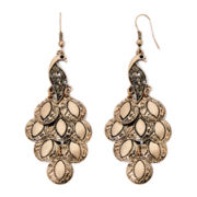 Decree® Gold-Tone Peacock Chandelier Earrings
