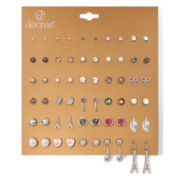 Decree® Floral and Color Earring Set of 30