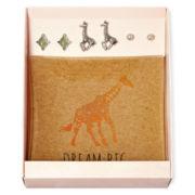 Decree® Giraffe 3-pr. Stud Earring Set