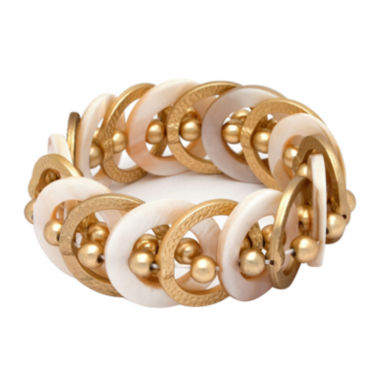 jcpenney.com | Mixit™ Gold-Tone Natural Shell Stretch Bracelet