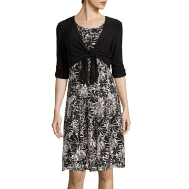 jcpenney.com | Perceptions 3/4-Sleeve Jacket Dress