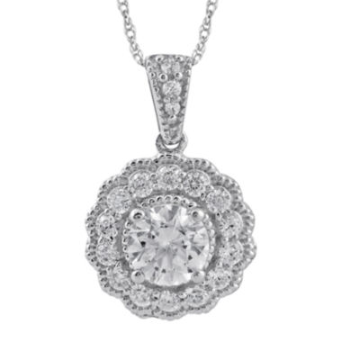 jcpenney.com | 3/4 CT. T.W. Diamond 14K White Gold Round Pendant