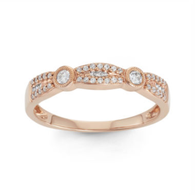 jcpenney.com | Botanical Bridal ¼ CT. T.W. 14K Rose-Gold Band