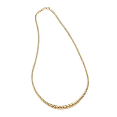 jcpenney.com | 14K Yellow Gold Graduated Grumetta Necklace
