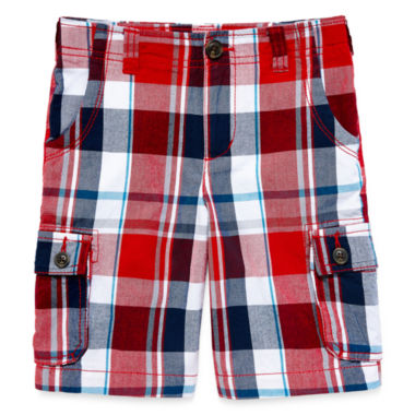 jcpenney.com | Arizona Plaid Cargo Shorts - Preschool Boys 4-7