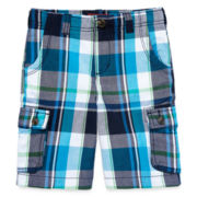 Arizona Plaid Cargo Shorts - Preschool Boys 4-7
