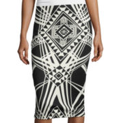 by&by Print Pencil Skirt