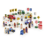 Guidecraft 36-pc. Community & Roadway Set