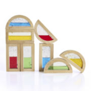 Guidecraft 8-pc. Rainbow Shimmering Water Building Blocks Set