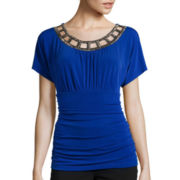 Alyx® Short-Sleeve Cage-Neck Top