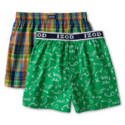 IZOD® 2-pk. Woven Boxers - Boys 8-20