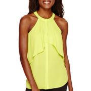 Worthington® Sleeveless Ruffle Blouse