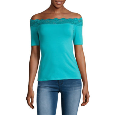 jcpenney.com | Decree Lace Trim Bodycon Top- Juniors