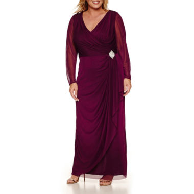 jcpenney.com | Blu Sage Long Sleeve Evening Gown-Plus