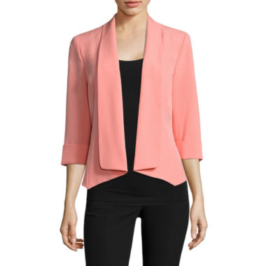 jcpenney.com | Black Label by Evan-Picone 3/4 Sleeve Open Front Jacket