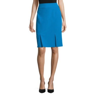 jcpenney.com | Black Label by Evan-Picone Solid Kick Pleat Skirt