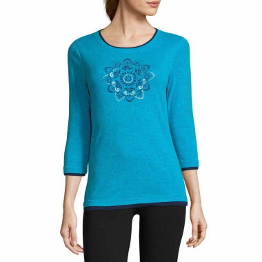 jcpenney.com | Made For Life Long Sleeve Y Neck T-Shirt-Talls