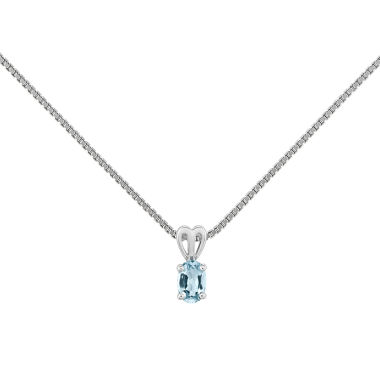 jcpenney.com | Womens Blue Aquamarine Sterling Silver Pendant Necklace