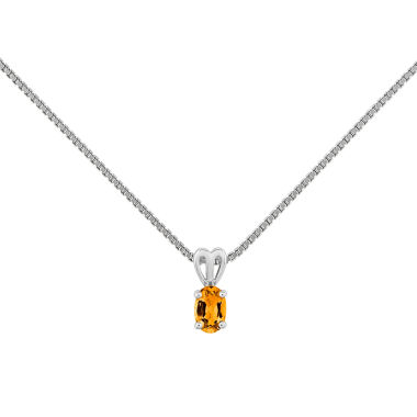 jcpenney.com | Womens Yellow Citrine Sterling Silver Pendant Necklace