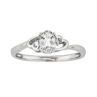 jcpenney.com | Womens White Topaz Sterling Silver Solitaire Ring