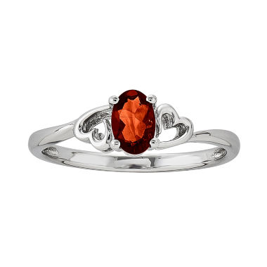 jcpenney.com | Womens Red Garnet Sterling Silver Solitaire Ring