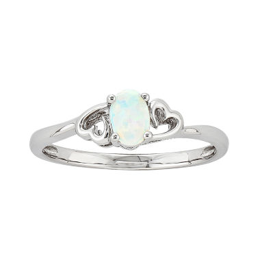 jcpenney.com | Womens White Opal Sterling Silver Solitaire Ring